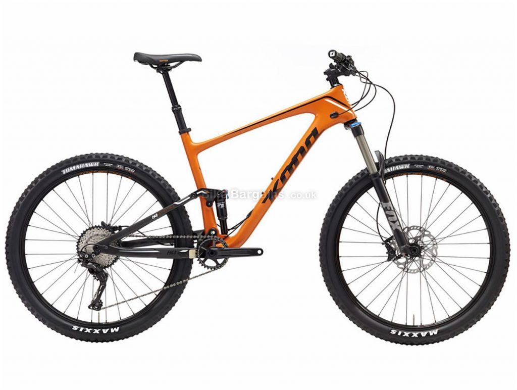 "Kona Hei Hei Trail Carbon Full Suspension Mountain Bike 2019 XS, Orange, Carbon, 27.5"", 11 Speed, Single Chainring, Disc, Full Suspension"