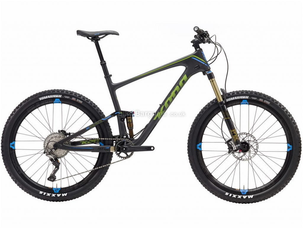 "Kona Hei Hei Trail Deluxe Carbon Full Suspension Mountain Bike 2019 XS, Grey, Carbon, 27.5"", 11 Speed, Single Chainring, Disc, Full Suspension"