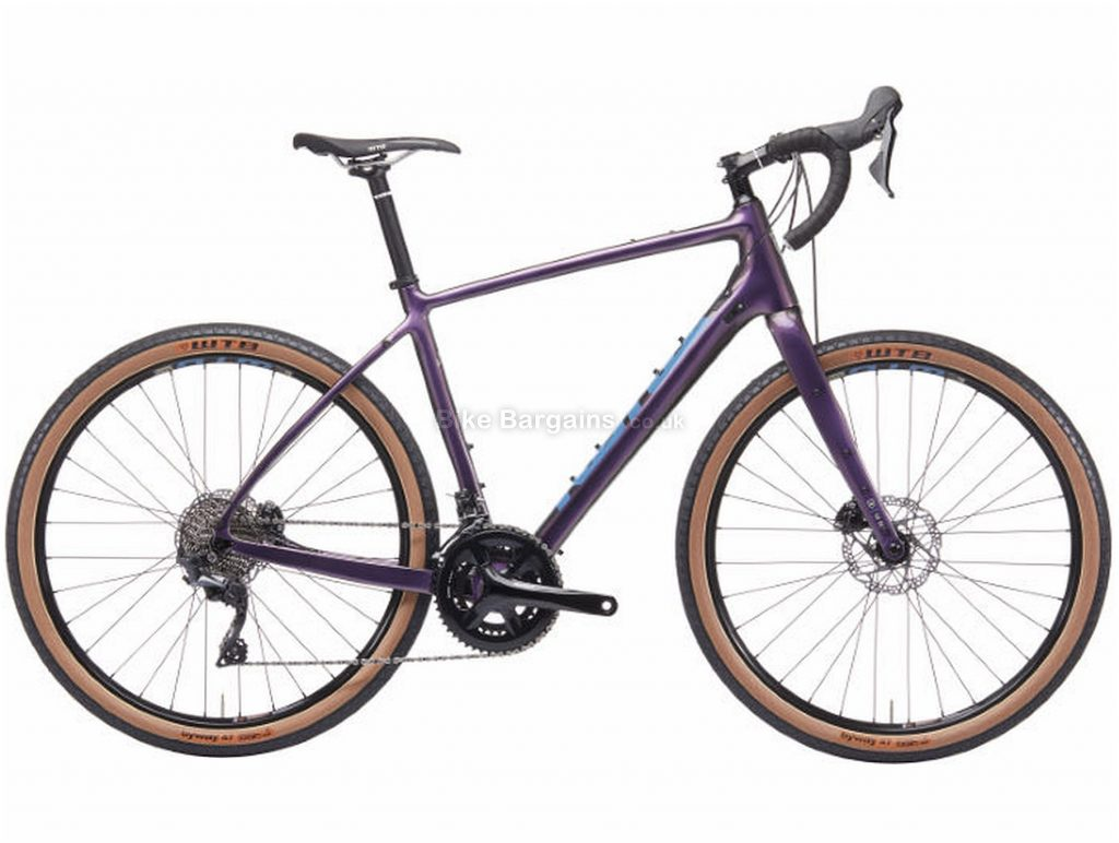 Kona Libre Adventure Carbon Road Bike 2019 49cm, Purple, Carbon, 650c, 11 Speed, Double Chainring, Disc