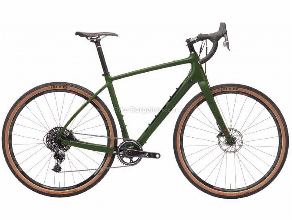 Kona Libre DL Adventure Carbon Road Bike 2019 49cm, Green, Carbon, 700c, 11 Speed, Single Chainring, Disc