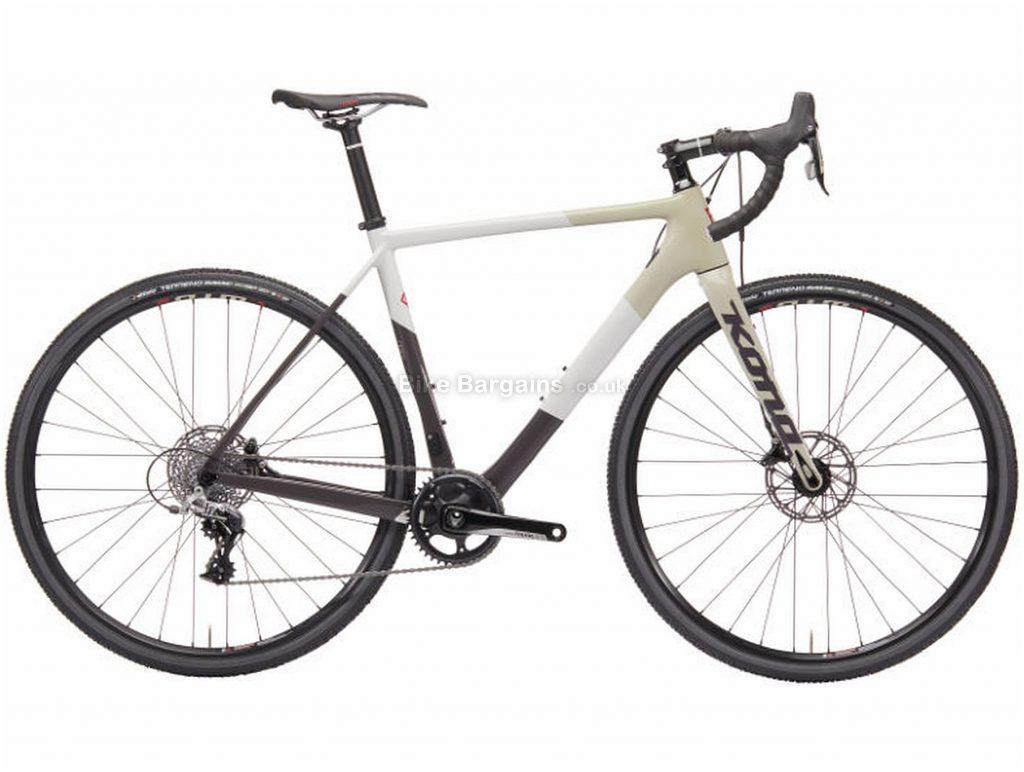 Kona Major Jake Carbon Cyclocross Bike 2019 54cm, White, Black, Carbon, 700c, 11 Speed, Single Chainring, Disc