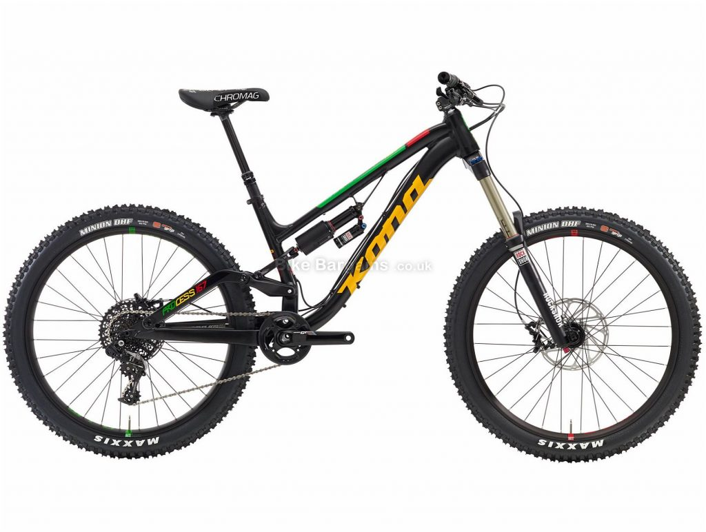 "Kona Process 167 Alloy Full Suspension Mountain Bike 2016 S, Black, 26"", Full Suspension, 11 Speed, Disc, Single Chainring"