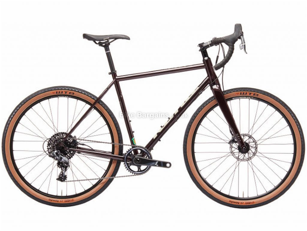 Kona Rove LTD Adventure Steel Road Bike 2019 52cm, Black, Steel, 650c, 11 Speed, Single Chainring, Disc