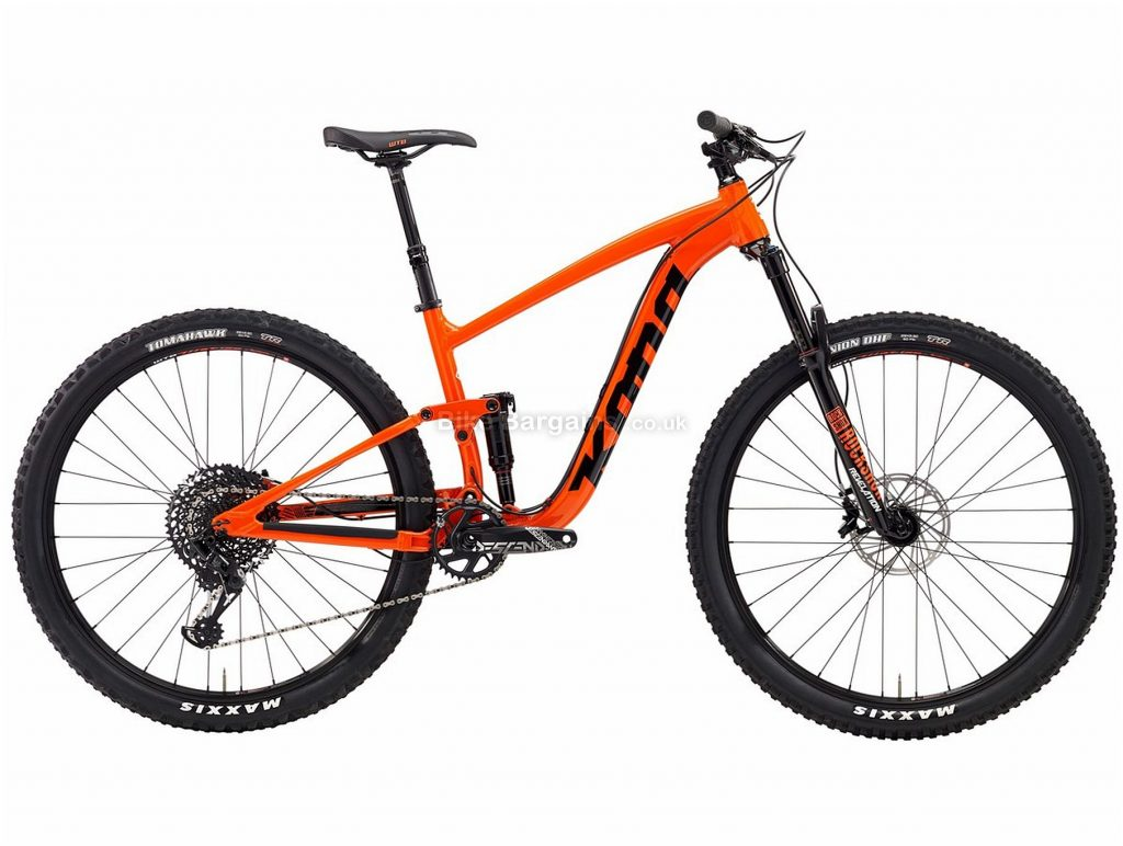 "Kona Satori DL 29er Alloy Full Suspension Mountain Bike 2019 L, Orange, 29"", Full Suspension, 12 Speed, Disc, Single Chainring"