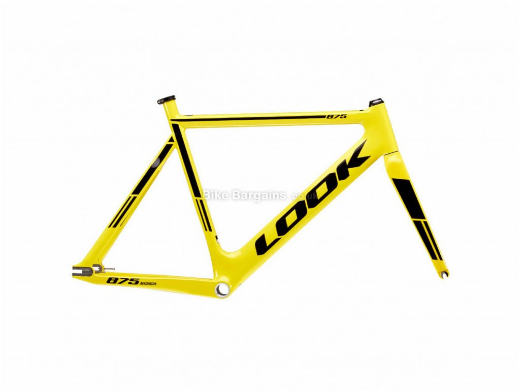 Look 875 Madison Track Calipers Carbon Track Frame L, Yellow, Carbon, 700c, Caliper Brakes