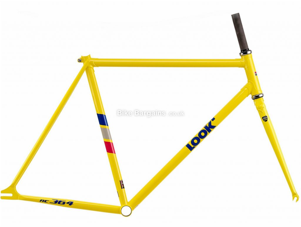Look AC 364 Heritage Calipers Steel Road Frame XS, Yellow, Steel, 700c, Caliper Brakes, 2.59kg