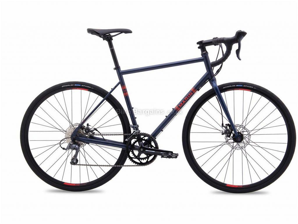 Marin Nicasio Road Bike 2019 52cm, Blue, Steel, 16 Speed, Disc, 700c