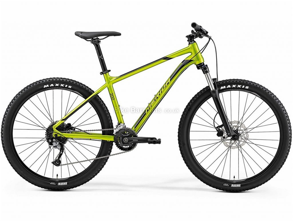 "Merida Big Seven 200 27.5"" Hardtail Mountain Bike 2019 15"", Green, Alloy, 18 Speed, Disc, 27.5"""