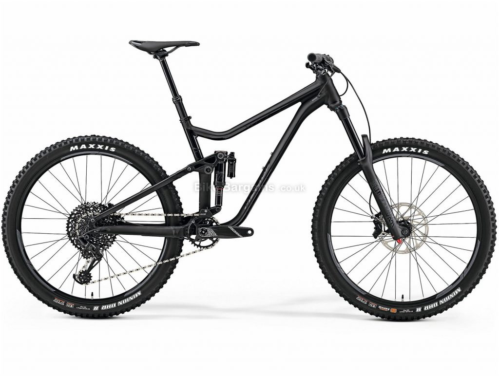 "Merida One Sixty 800 Alloy Full Suspension Mountain Bike 2019 S, Black, 27.5"", Full Suspension, 12 Speed, Disc, Single Chainring, 14.7kg"