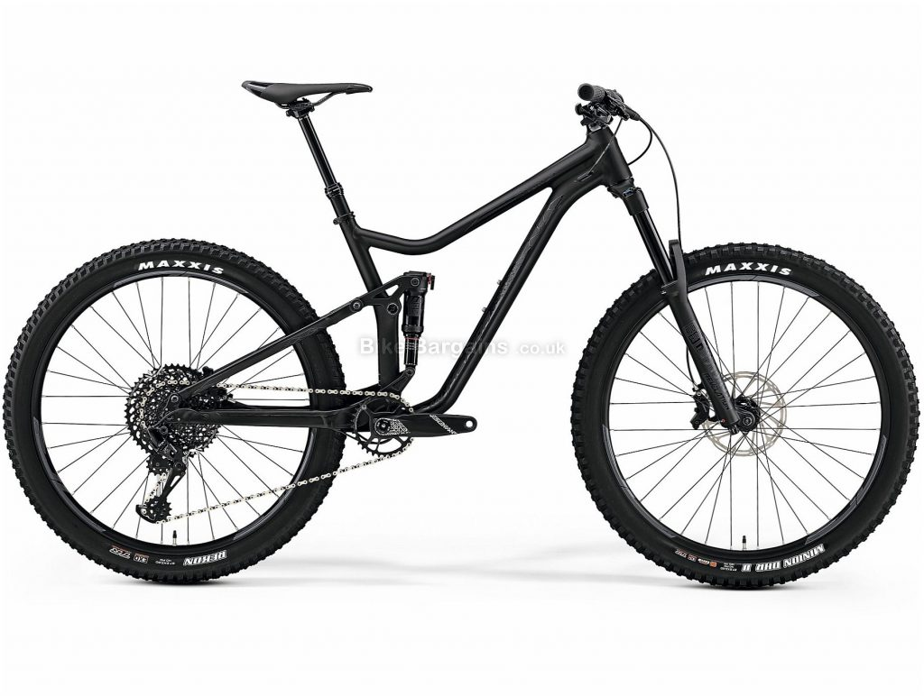 "Merida OneForty 800 27.5 GX Eagle Alloy Full Suspension Mountain Bike 2019 M, Black, 27.5"", Full Suspension, 12 Speed, Disc, Single Chainring, 14.2kg"