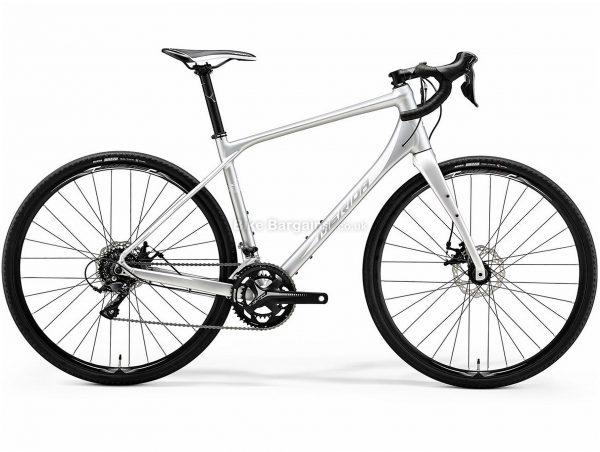 Merida Silex 200 Gravel Bike 2019 M, Silver, White, Alloy, 18 Speed, Disc, 700c