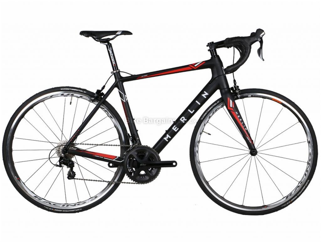 Merlin Cordite Ultegra R8000 Carbon Road Bike 2020 49cm, 52cm, 55cm, 58cm, Black, Red, Grey, Yellow, Carbon, 700c, 11 Speed, Double Chainring, Caliper Brakes