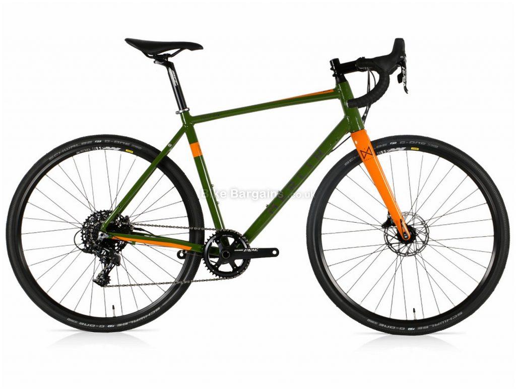 Merlin Malt-G1X Apex 1 Alloy Gravel Bike 2020 56cm, Green, Orange, Alloy, 700c, 11 Speed, Single Chainring, Disc