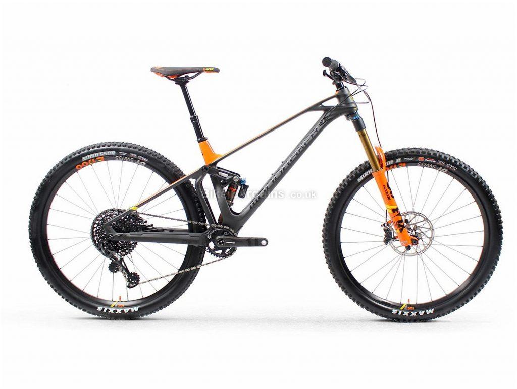 "Mondraker Foxy Carbon RR 29er Carbon Full Suspension Mountain Bike 2019 S, Grey, Orange, 29"", Full Suspension, 12 Speed, Disc, Single Chainring"