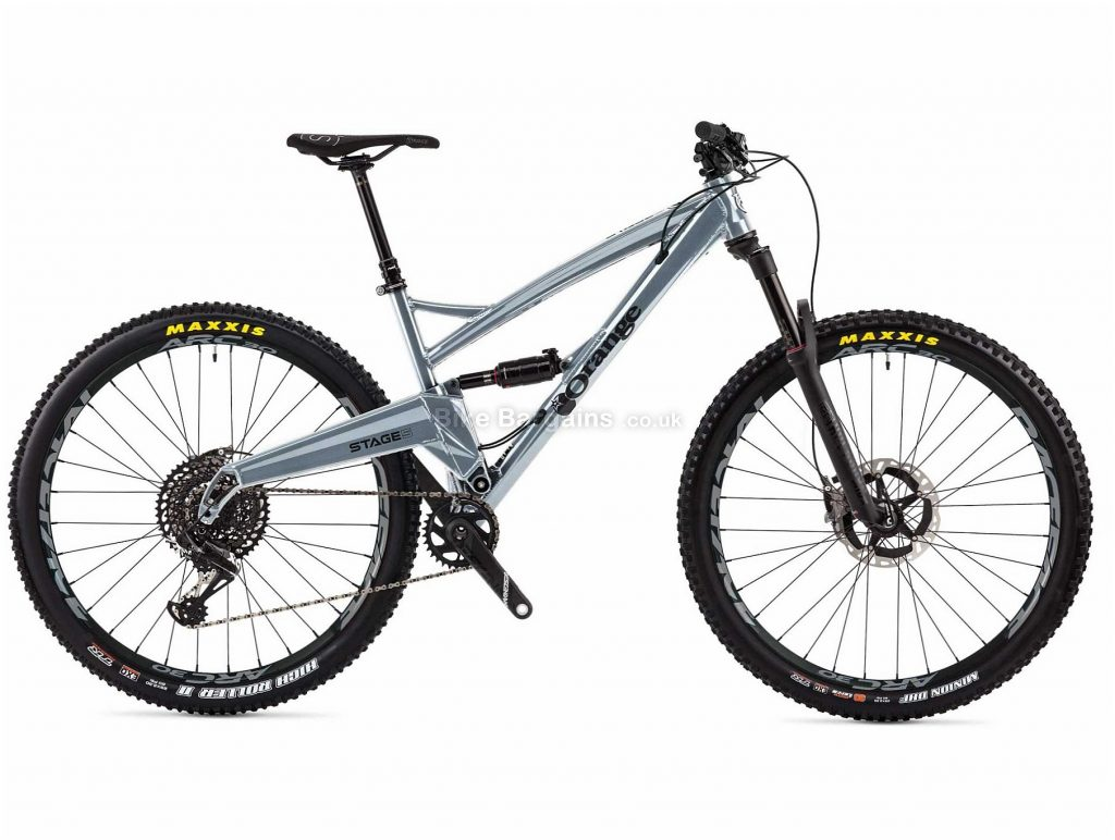 """Orange Stage 5 RS Alloy Full Suspension Mountain Bike 2019 M, Silver, 29"""", Full Suspension, 12 Speed, Disc, Single Chainring"""