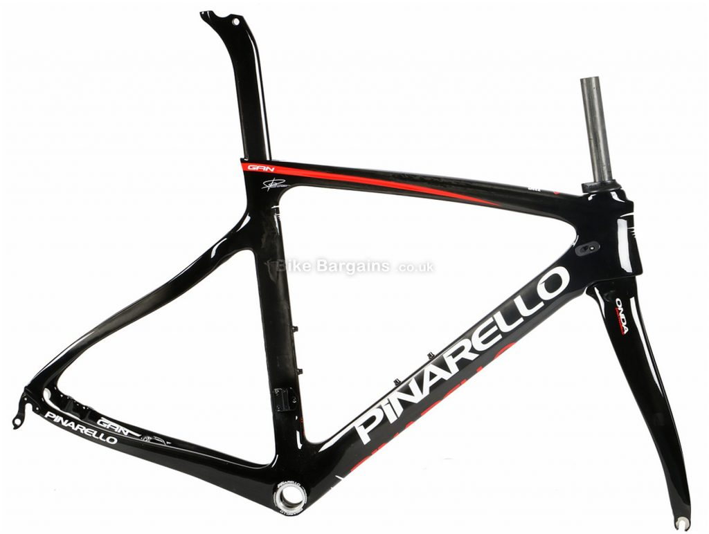 Pinarello Gan QR Disc Carbon Road Frame 51cm,53cm,54cm,55cm, Black, White, Red, Carbon, 700c, Disc