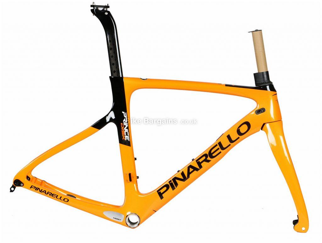 Pinarello Prince Disc Carbon Road Frame 59cm, Orange, Carbon, 700c, Disc