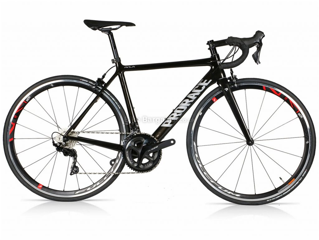 Prorace Avila 105 Carbon Road Bike 2019 M, Black, Silver, Carbon, 700c, 11 Speed, Double Chainring, Caliper Brakes