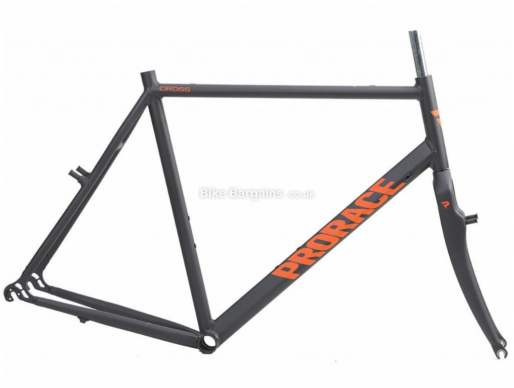 "Prorace Cross Alu 1"" Calipers Alloy Cyclocross Frame 60cm, Grey, Orange, Alloy, 700c, Caliper Brakes"