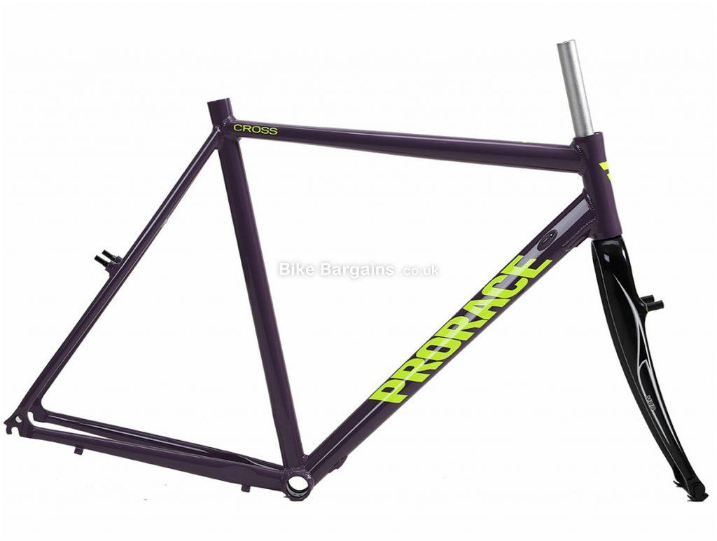 Prorace Cross Alu Calipers Alloy Cyclocross Frame 52cm, Purple, Yellow, Alloy, 700c, Caliper Brakes