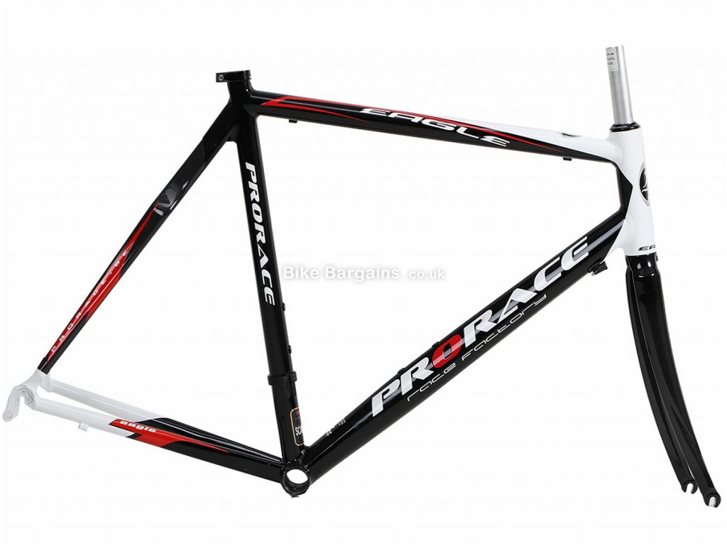Prorace Eagle Calipers Alloy Carbon Road Frame 56cm, Black, White, Red, Alloy, Carbon, 700c, Caliper Brakes