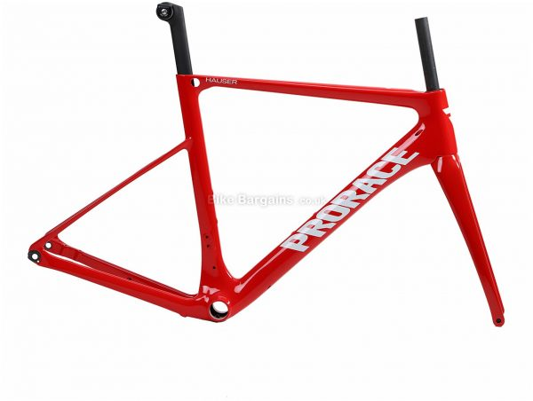 Prorace Hauser Disc Carbon Road Frame XS,S,XL, Black, Grey, White, Red, Carbon, 700c, Disc