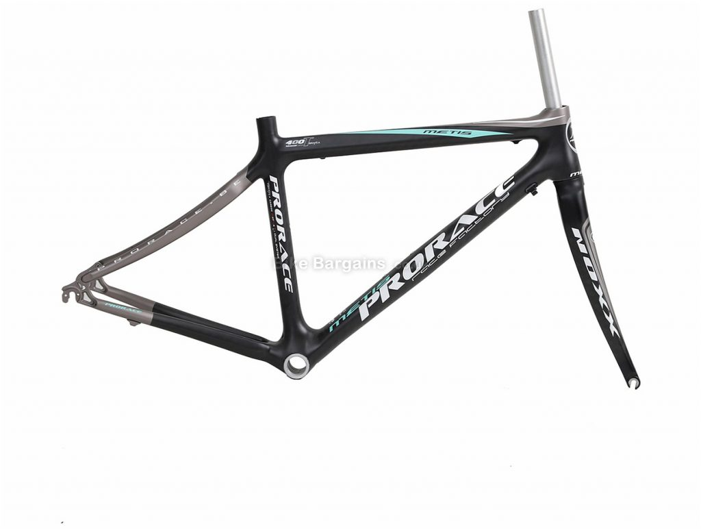 Prorace Metis Calipers Carbon Road Frame XL, Grey, White, Red, Carbon, 700c, Caliper Brakes