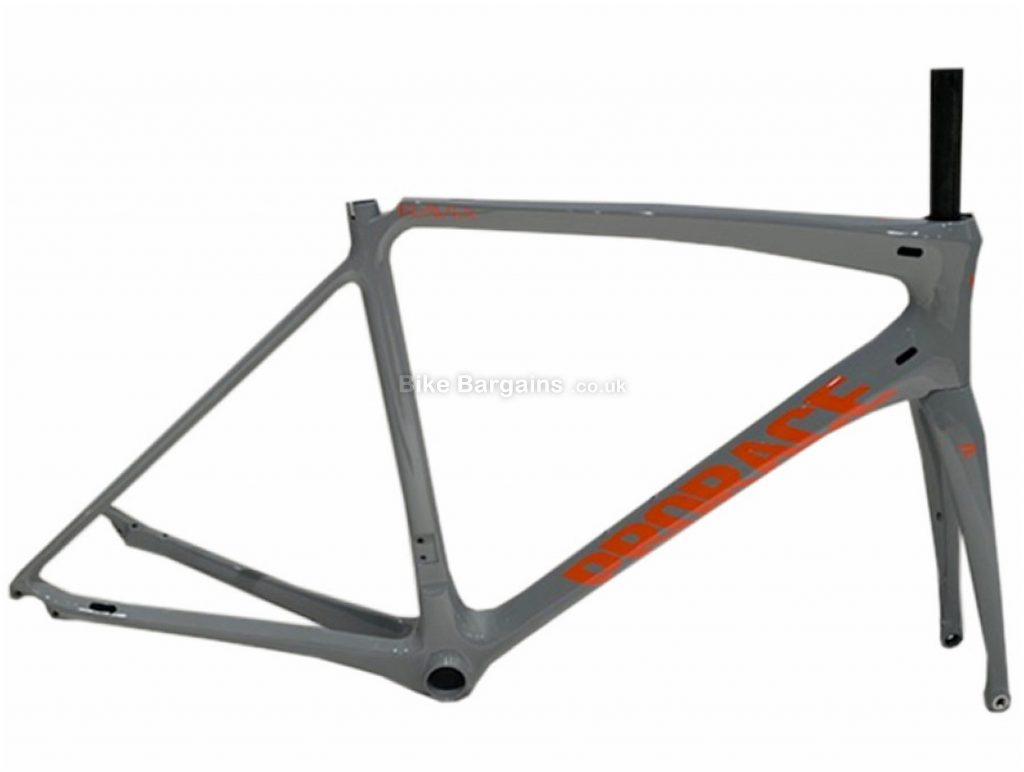 Prorace Ravia Disc Carbon Road Frame S, Grey, Orange, Carbon, 700c, Disc