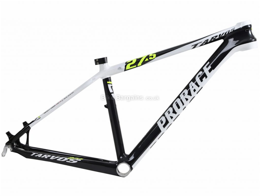 "Prorace Tarvos Carbon Hardtail MTB Frame M,L, Grey, Black, Red, Carbon, 27.5"", Disc, Hardtail"