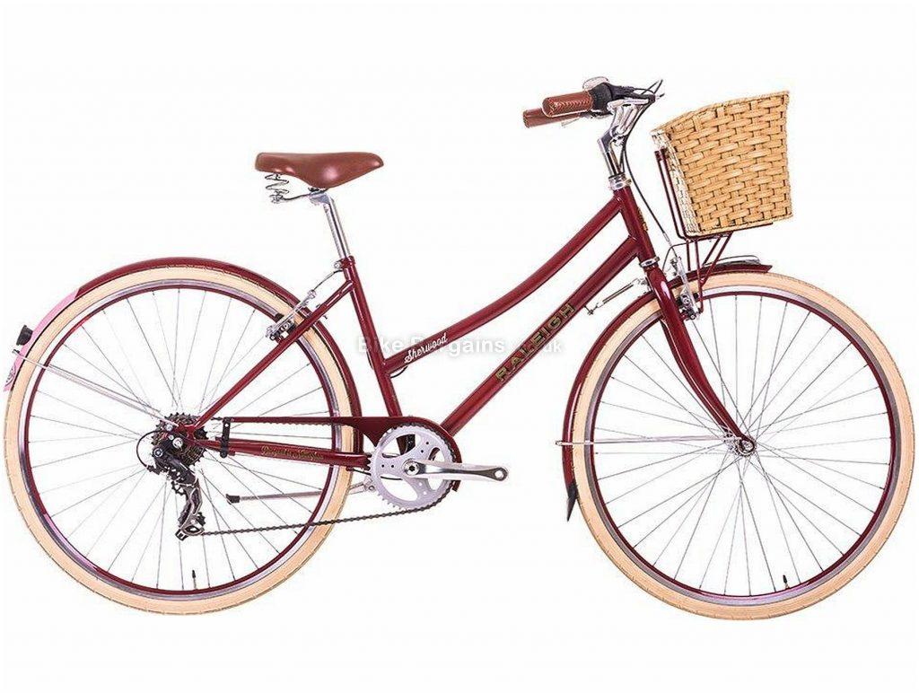 """Raleigh Ladies Sherwood Steel Commuter City Bike 17"""", Red, Steel, 700c, Caliper Brakes, 7 Speed, 22kg"""