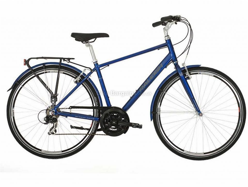 "Raleigh Pioneer 1 Classic City Hybrid Bike 2019 17"", Blue, Alloy, 18 Speed, Calipers, 700c"