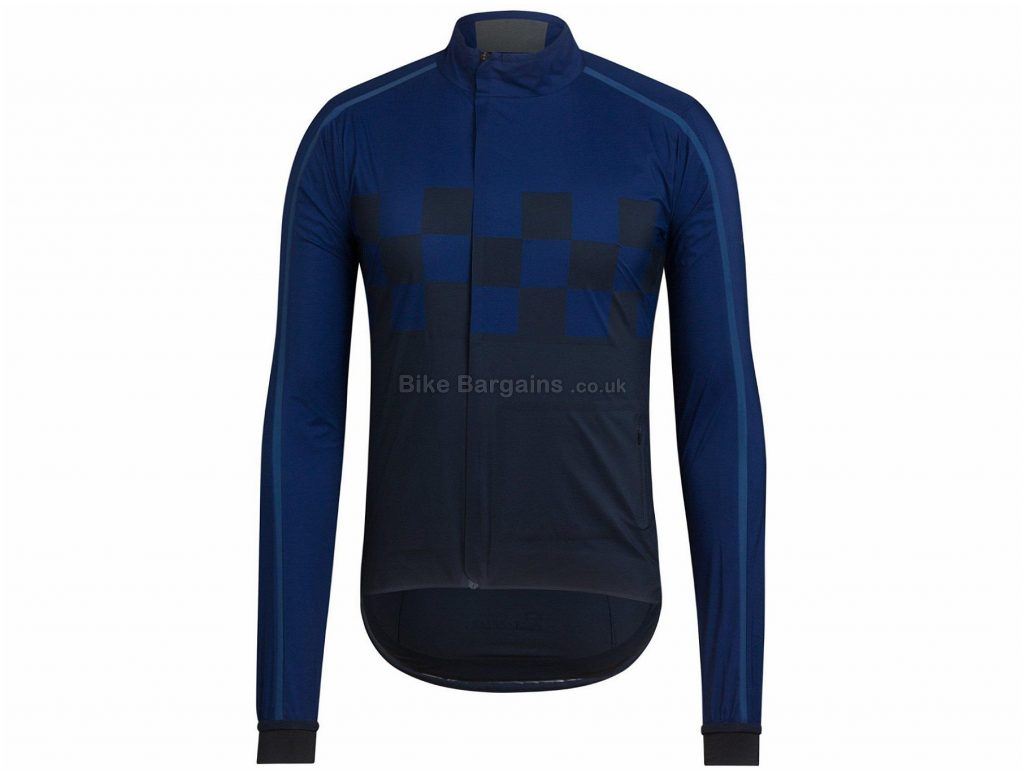 Rapha Classic Wind Check Jacket XS, Black, White, Blue