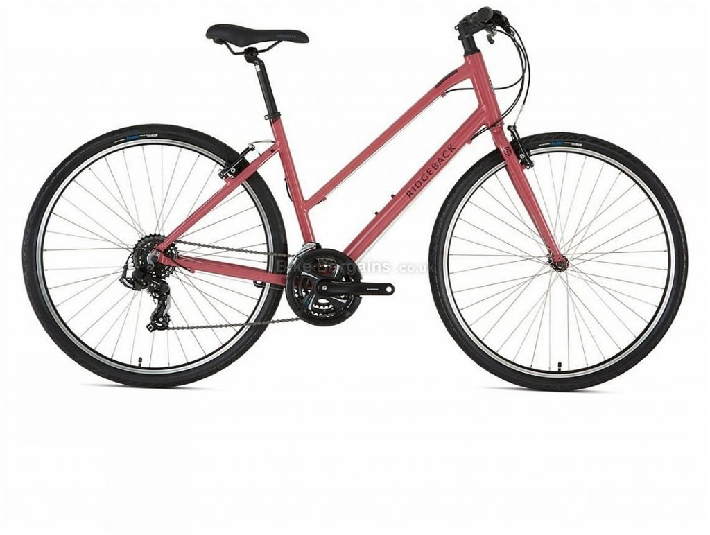 Ridgeback Ladies Motion Alloy City Bike 2020 L, Pink, 700c, Alloy, 7 Speed, Triple Chainring, Caliper Brakes