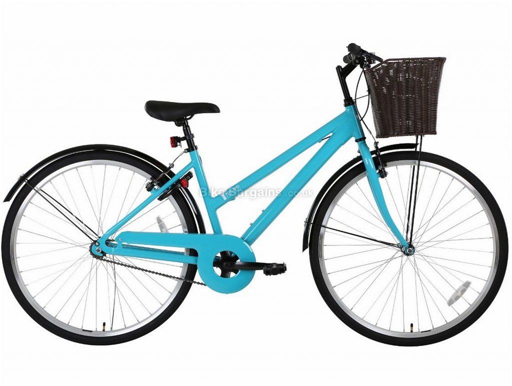 "Rutland Cycling Ladies City Hybrid Bike 2020 17"", Blue, Alloy, Single Speed, Calipers, 700c"