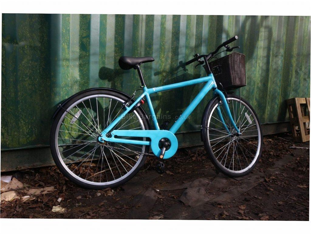 "Rutland Cycling Mens City Hybrid Bike 2020 18"", 20"", Blue, Alloy, Single Speed, Calipers, 700c"