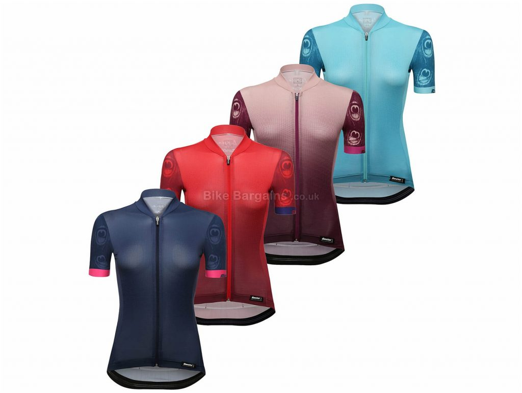 Santini Ladies Volo Short Sleeve Jersey S, Pink
