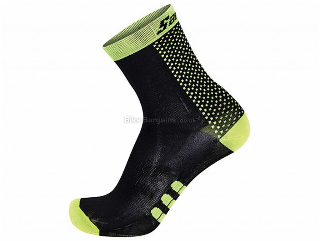 Santini Two Medium Profile Qskin Socks XS,S, Red