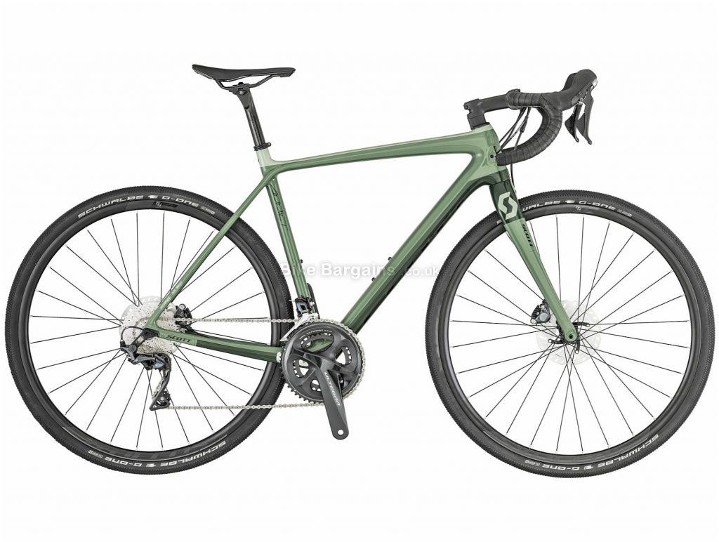 Scott Addict 20 Disc Carbon Gravel Bike 2019 56cm, Green, Carbon, 11 Speed, Disc, Double Chainring, 8.46kg
