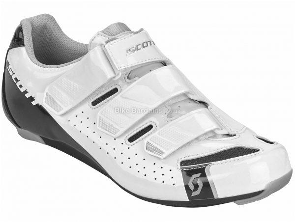 Scott Comp Ladies Road Shoes 40, White, Ladies, Road, Composite, Rubber, Velcro
