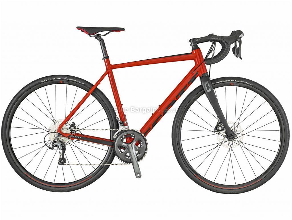 Scott Speedster 20 Disc Road Bike 2019 54cm, Red, Grey, Alloy, 20 Speed, Disc, 700c