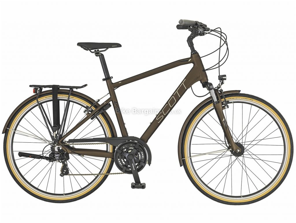 Scott Sub Comfort 20 City Hybrid Bike 2019 L, Brown, Alloy, 21 Speed, Calipers, 700c