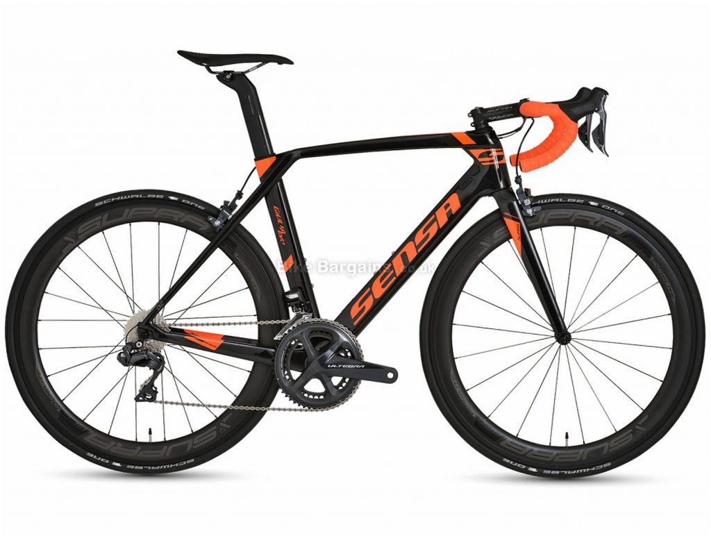 Sensa Giulia Evo Kanjers Ultegra Carbon Road Bike 2020 61cm, Black, Orange, 700c, Carbon, 11 speed, Caliper Brakes, Double Chainring