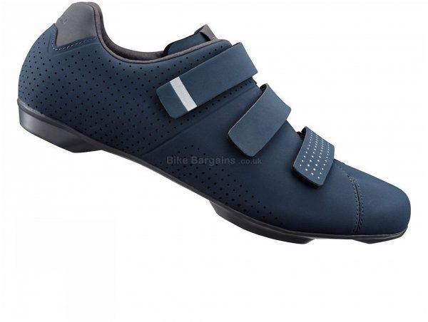 Shimano RT5 Urban Road Shoes 40,44, Blue, 317g, Men's, Road, Leather, Rubber, Fibreglass, Velcro