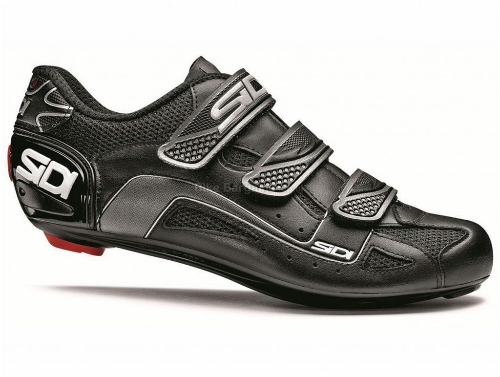 Sidi Tarus Road Shoes 36,37, Black, White, Men's, Road, Carbon, Velcro, Velcro