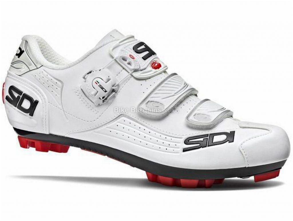Sidi Trace MTB Shoes 36, White, Black, Red, Yellow, Men's, MTB, Nylon, Boa, Velcro