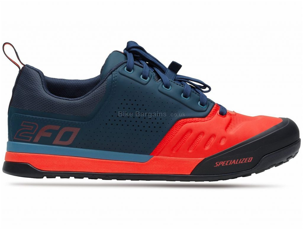Specialized 2fo Flat 2.0 MTB Shoes 2019 46, Blue, Red, 347g, Men's, MTB, EVA, Rubber, Laces
