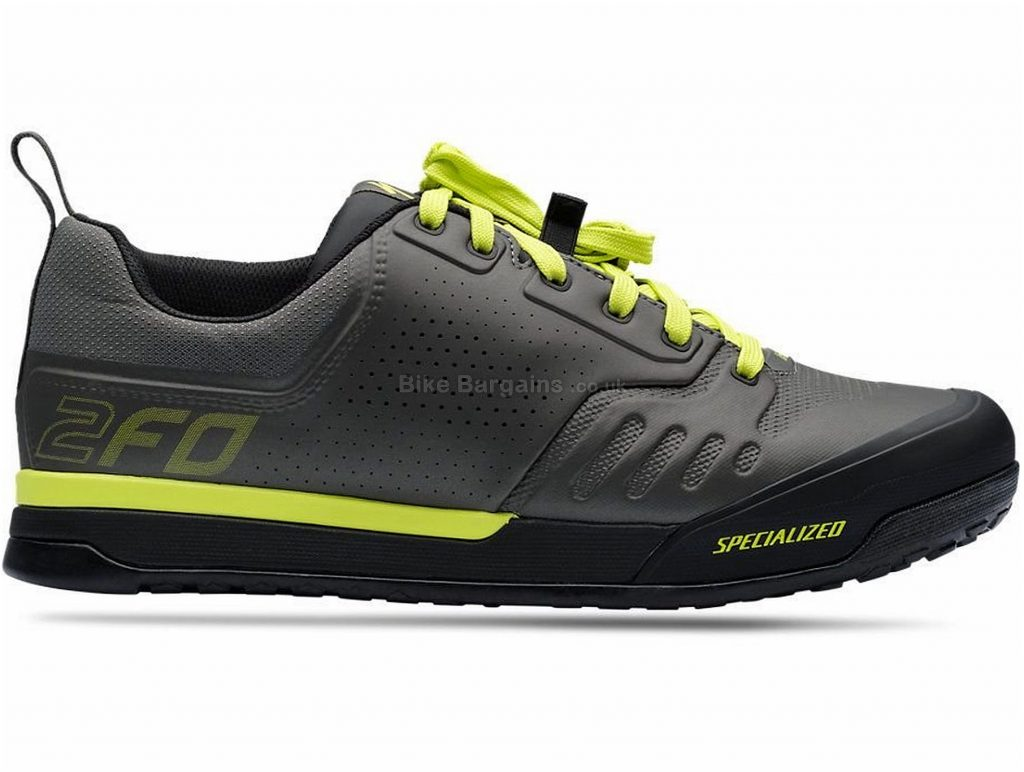 Specialized 2fo Flat 2.0 MTB Shoes 2020 37, Grey, Yellow, 347g, Men's, MTB, EVA, Rubber, Laces