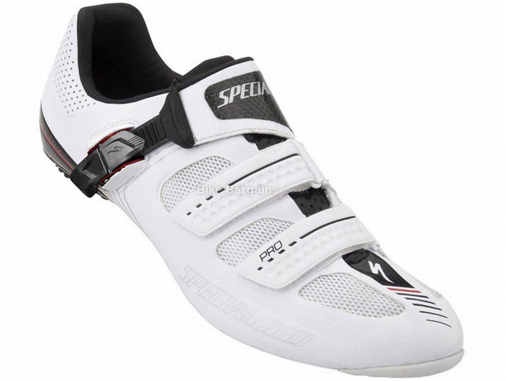 Specialized Pro Road Shoes 40, White, Men's, Road, Carbon, Buckle, Velcro