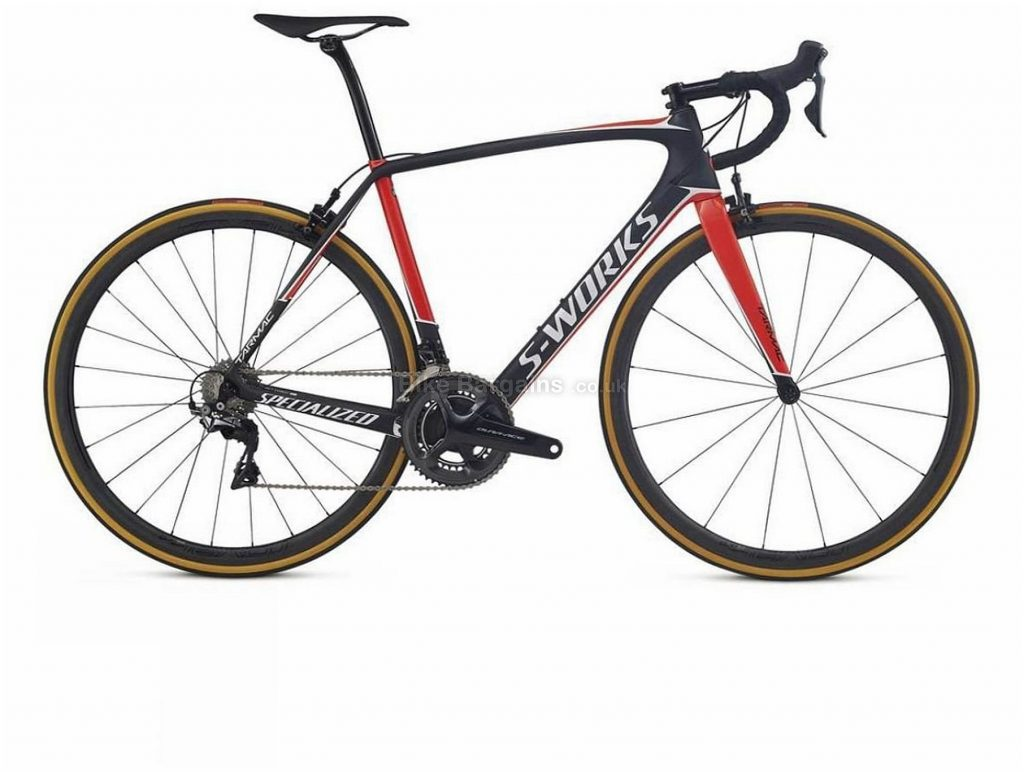 Specialized S-Works Tarmac Dura-Ace Carbon Road Bike 2017 58cm, Black, Red, Carbon, 11 Speed, Caliper Brakes, Double Chainring