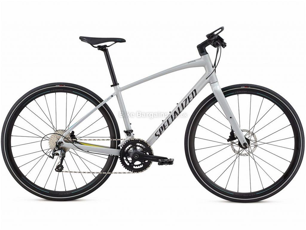 Specialized Sirrus Elite Ladies City Hybrid Bike 2020 XL, White, Alloy, 20 Speed, Disc, 700c